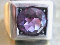 VINTAGE MANS MENS ALEXANDRITE STERLING SILVER 925 TAXCO MEXICO STATEMENT RING