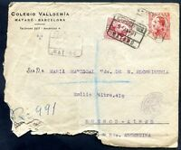 SPAIN TO ARGENTINA Registered Cover 1931 (w/defects)
