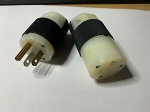 NEW Hubbell 5266C & 5269C Male & Female- 1 Pair Ships FREE from Texas