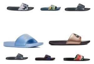 Nike Benassi JDI Printed Womens Slides Sandals Slippers Casual Beach Comfy Shoes