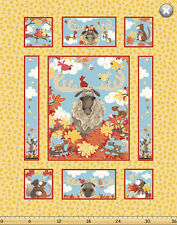 """Susybee BRUCE the Moose Panel Quilt Fabric ~ 35"""" x 44"""""""