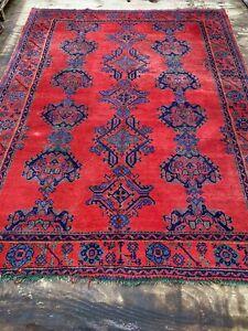 Vintage Oushak rug CARPET Handmade Shabby Chic Size: 320x245 Cm