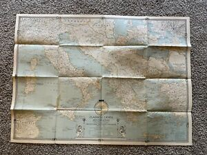 1940 National Geographic Magazine Map Classical Lands of the Mediterranen