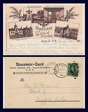 NEW MEXICO HASPELMATH PIONEER CARD MULTI VIEW POSTED 1903 TO PUEBLO COLORADO