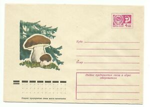 Russia. USSR. Cover with printed stamp Mushrooms 26.02.1975