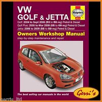 4610 Haynes VW Golf Petrol & Diesel (2004 - Sept 2008) 53 to 58 Service Manual