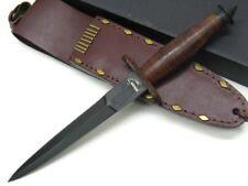 Boker Leather Devil's Brigade Straight Fixed Dagger Knife + Sheath 02BO1942