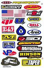 1 SHEET NEW MULTI LOGO CAR MOTOCROSS ATV ENDURO BIKE RACING DECAL STICKER SK43