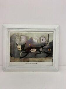 Rosina Wachtmeister 1983 Framed Print Cats S7
