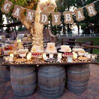 Wedding Party Decor Sign Candy Bar Kraft Paper Bunting Banner Garland Cardboard