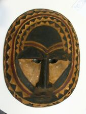 African Wood Mask Hand Carved Authentic Tribal Ceremonial Ghana ?