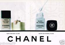 Publicité advertising 1989 (2 pages) Cosmétique maquillage Chanel