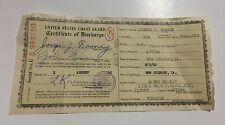 Vtg Military U.S. Coast Guard Discharge Certificate Vietnam War Era James Mckay