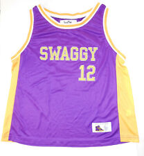 JUSTIN BIEBER Swaggy #12 Lakers Colors Youth Basketball Jersey Shirt Tank Top XL
