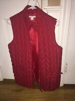 Women's Coldwater Creek Quilted Puffer Vest size Medium (10-12) Deep Red