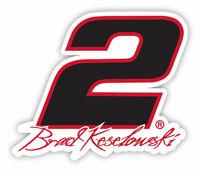 NASCAR Driver Number Decal-Brad Keselowski #2 Die Cut Sticker