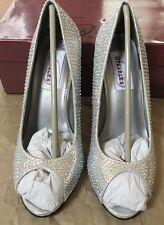 Dyeables Sienna Women US 6 Silver Heels