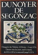 Affiche Exposition DUNOYER DE SEGONZAC Orangerie des Tuileries 1976 *