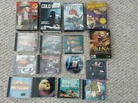 Lot of 16 Vintage PC CD-ROM Video Games - War Battles Racing Science Fiction