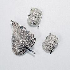 Vintage Willi Nonnenmann Germany Sterling Silver Filigree Pin Brooch Earrings