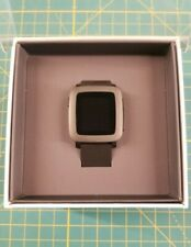 Pebble Time Stainless Steel/Black Classic Buckle -NEW/OPEN BOX -Read Description