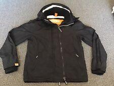 Men's SuperDry Windcheater Black Jacket - Size Large: Excellent Condition!