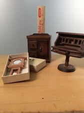 Handcrafted hardwood lot monticello clock desk and kitchen cabinet