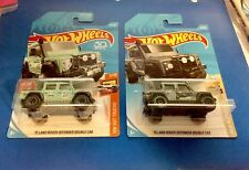 🏁 Hot Wheels (2) '15 Land Rover Defender Double Cab - Gray & Green 🏁