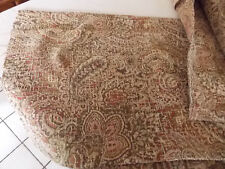 Beige Brown Rust Paisley Print Upholstery Fabric  1 Yard