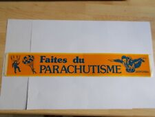 Autocollant / sticker FAITES DU PARACHUTISME ( 33,5 cm)