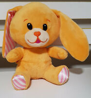 SMALL FRYS BUILD A BEAR BUNNY RABBIT PLUSH TOY ORANGE WITH STRIPEY PINK EARS