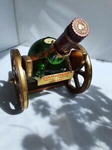 Mid Century French Vintage Courvoisier Brandy Cannon Decanter Original Bottle