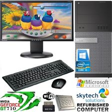 Gaming PC Monitor Bundle Core i5 Desktop Computer 16GB RAM 2TB Windows 10 GT 710