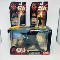 Star Wars Darth Maul & Sith Speeder 1999 Episode I Collection 1 Figurines Bundle
