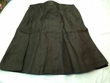 NWT TALBOTS Women Pure Irish Linen Solid Brown Pleated Fit Flair Lined Skirt 20