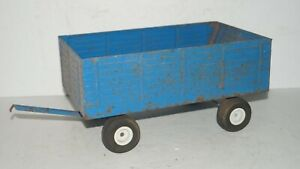Ford BIG BLUE Pressed Metal Farm Tractor Grain Wagon Implement 1/12 Scale