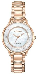 CITIZEN EM0382-51D Eco-Drive Ladies Solar Diamond Watch Luxury RRP $1200.00