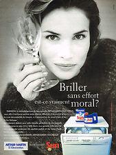 PUBLICITE ADVERTISING 025  1996  ARTHUR MARTIN ELECTROLUX  lave vaisselle