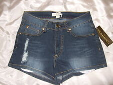 NWT NICKI MINAJ blue denim shorts pants ~ womens 7/8