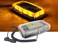 "48 LED 10"" Amber Flash Hazard Traffic Emergency Warn Roof Mini Strobe Light Bar"