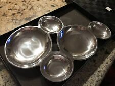 Saks Fifth Avenue Raindrops Sectioned Attached Serving Bowls