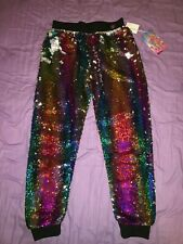 NWT JOJO SIWA JOJO'S CLOSET RAINBOW SEQUIN PANTS SIZE XL+ XL PLUS SHIP EVERYDAY