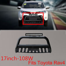 Nudge Bar for Toyota Rav4 06-12 Black Grille Guard+108w Cree LED Light+Wiring