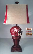 """Oklahoma University 33"""" NCAA Helmet Lamp"""
