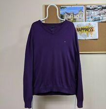 Tommy Hilfiger Jumper in Purple | Size XL *Cotton Cashmere*