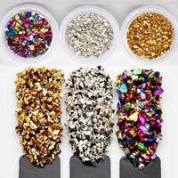Broken Glass Stones Rhinestones Gems for Nail Crystal Nail Art Decoration Tips