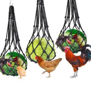 Vegetable Net Bag Large Birds Feeder Coop Feeding Tool Fruit Snack Holder
