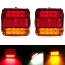 2Pcs 12V LED Luz trasera de cola remolque Indicador Lámpara Caravana Camión