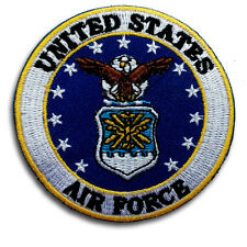 American US United States Air Force Patch Iron On Flag Army Harley Military Sew