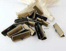 ♥ 20 Fermoirs Griffe, pince ruban - Bronze - 20x8mm pour bracelet / collier